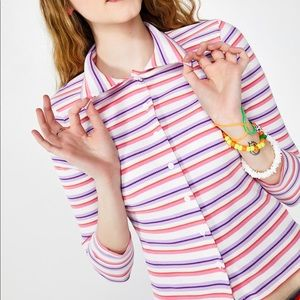 dELiA*s by Dolls Kill Get A Clue Striped Sweater